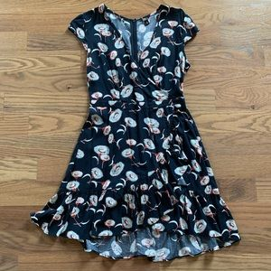 JCrew Factory faux-wrap dress, sz 4